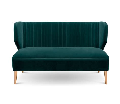 small two seater settee bakairi is a modern upholstered sofa with cotton velvet