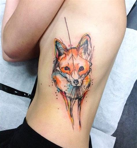 watercolor tattoo fox the 25 best ideas about watercolor fox tattoos on