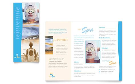 salon brochure templates spa brochure template design