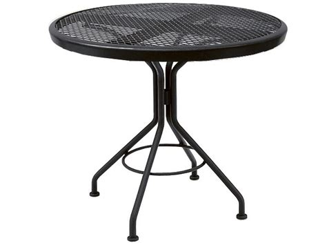 woodard wrought iron 30 round bistro table 280134