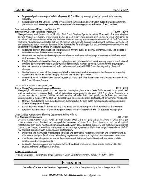 career logistics resume sle writing resume