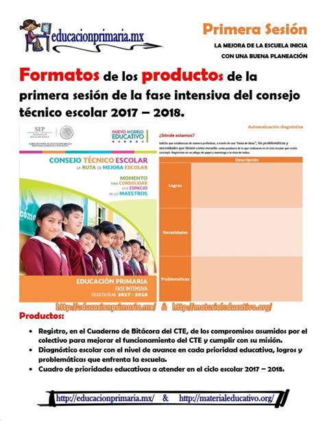formatos de productos y material para la sexta sesin de cte marzo formatos para los productos y material de apoyo para la