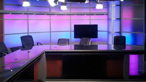 tv studio desk modular news desk tv set designs