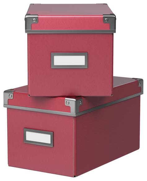 kassett box with lid pink contemporary storage