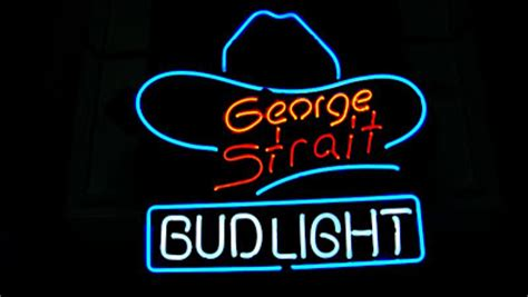 Bud Light Wiki by Wiki Neon Sign Bud Light George Strait Bar Neon Light Sign 16 Quot X 15 Quot