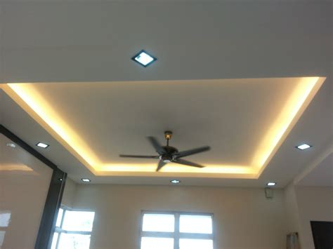 L Box ceiling JB, Johor Bahru Plaster Ceiling kempas