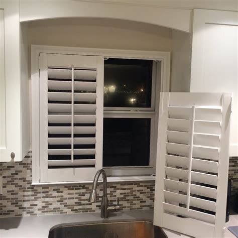 Kitchen Faucet Install think you can t put plantation shutters over your kitchen