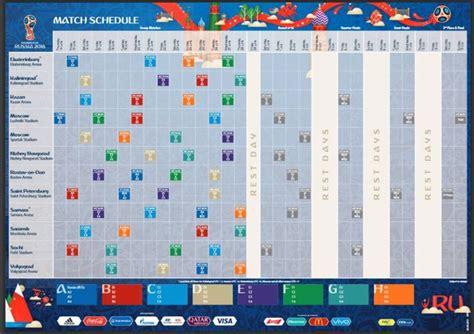 Calendario A Rusia 2018 Per 250 En Rusia 2018 El Calendario Fixture De La Fase De