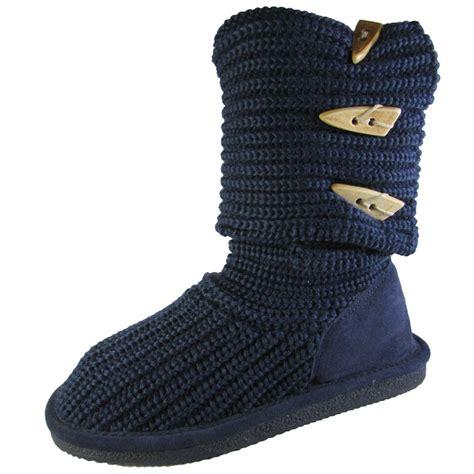 womens knit boots bearpaw womens knit sheepskin fold knee high boot