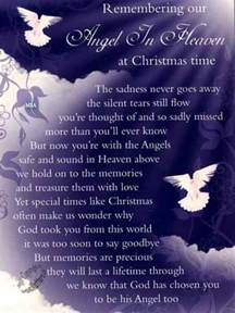 amazing grace my chains are gone org poem remembering our angel in heaven at christmas time