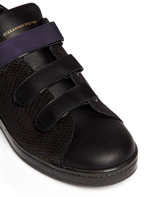 sneakers with velcro straps mcqueen harness velcro sneakers in blue