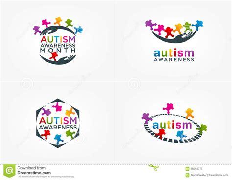 autism awareness logo design stock vector image 68510777
