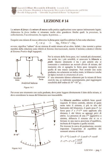 vibrazioni meccaniche dispense misure della portata dispense
