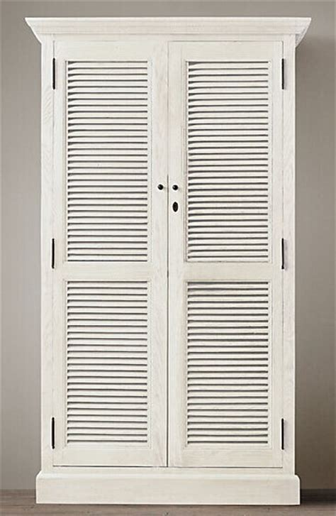 American Wardrobe by American Country Style Weathered Wooden Shutters And