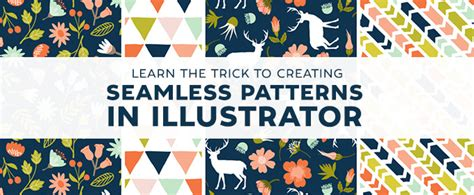 seamless pattern design illustrator learn the trick to creating seamless patterns in