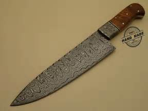 damascus kitchen chefa knife custom handmade steel chefs