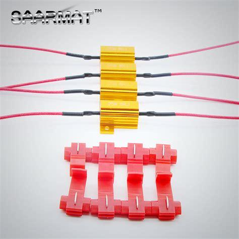 load resistor for brake lights 4x 25w led brake turn signal light load resistor fix error fast flash 7443 wy21w w21w