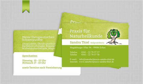 Visitenkarten Heilpraktiker visitenkarte naturheilpraxis sandra thiel mediasys24