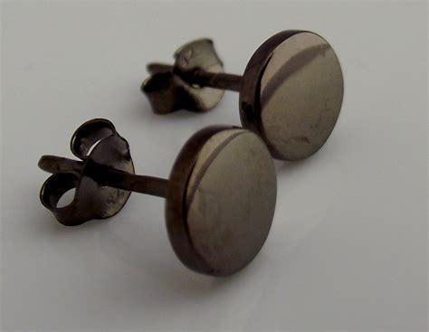 mens earrings black stud earrings for nail it
