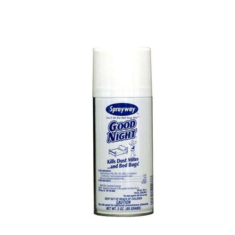 sprayway good night  oz ready   dust mite  bed bug sprays  pack swr