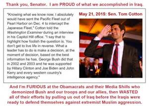 When Did Obama Take Office by I Am Proud Of What We Did In Iraq Before Obama Took Office