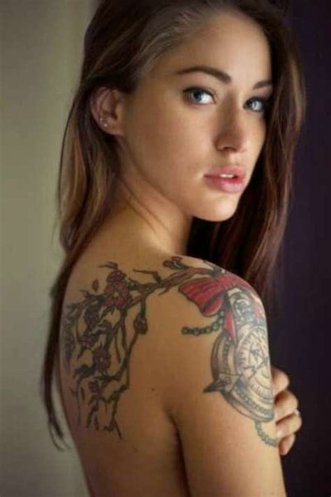 beautiful tattooed ladies 83 wonderful shoulder tattoos for