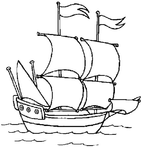 free coloring pages of boat