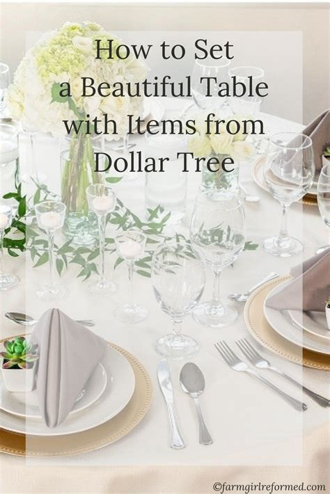 dollar tree table how to set a beautiful table with items from dollar tree