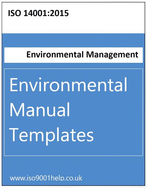 Iso Templates Iso 14001 2015 Template Free