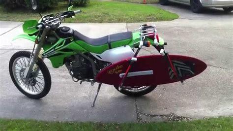 diy luggage rack motorcycle diy motorcycle surf skim rack youtube