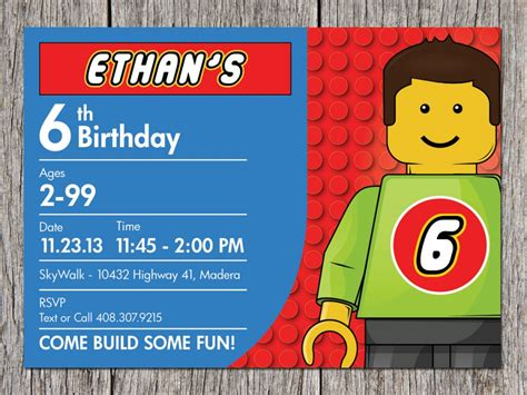 6 yr birthday invitation card template lego birthday invitation ideas bagvania free