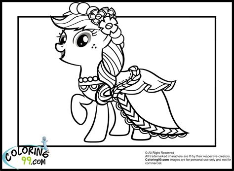 rainbow dash dress coloring page my little pony royal wedding coloring pages