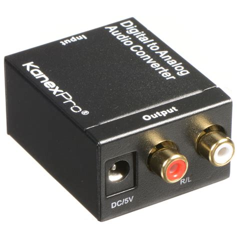 Murah Analog To Digital Audio Converter kanexpro digital to analog audio converter aud2acv b h photo