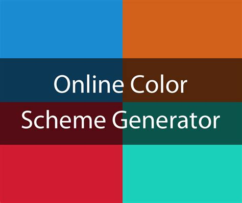 scheme generator color scheme generator and color picker