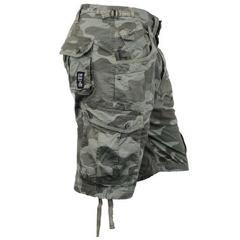 army pattern cargo shorts mens crosshatch camouflage shorts cargo combat belt knee