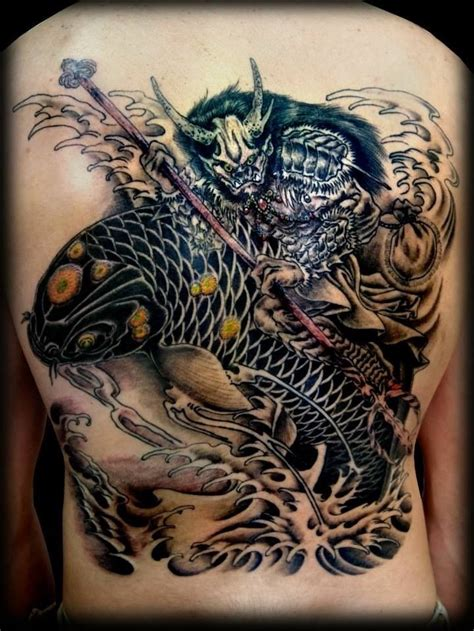 japanese water dragon tattoo designs japanese water a koi fish animaltattoo