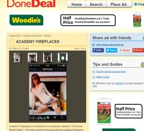 Done Deal Fireplaces by This Fireplace Ad On Donedeal Comes With An