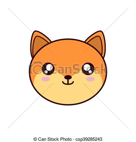imagenes kawaii de zorros eps vector de kawaii lindo zorro animal icono zorro