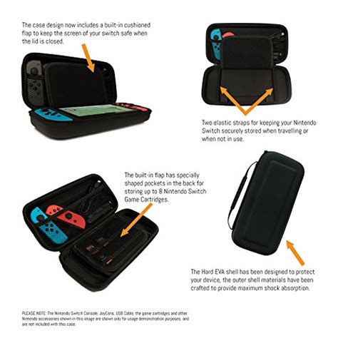 Protective Carry For Nintendo Switch orzly carry compatible with nintendo switch black protective portable travel carry