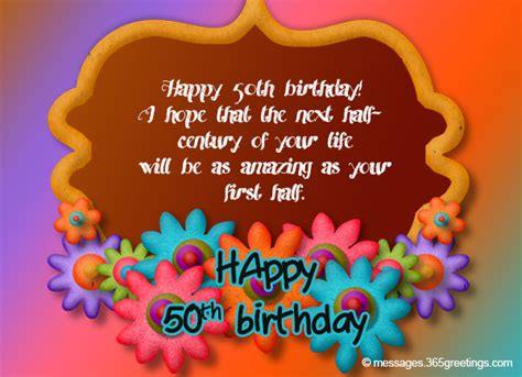 50th Birthday Wishes and Messages   365greetings.com