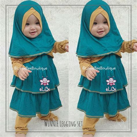 busana muslim anak winnie legging set shopee indonesia