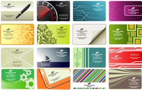 free vector business card templates free vector in