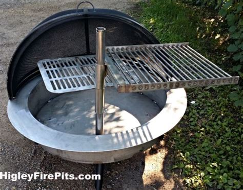 Stainless Steel Free Standing Fire Pit Safety Screen Pit Grill Insert