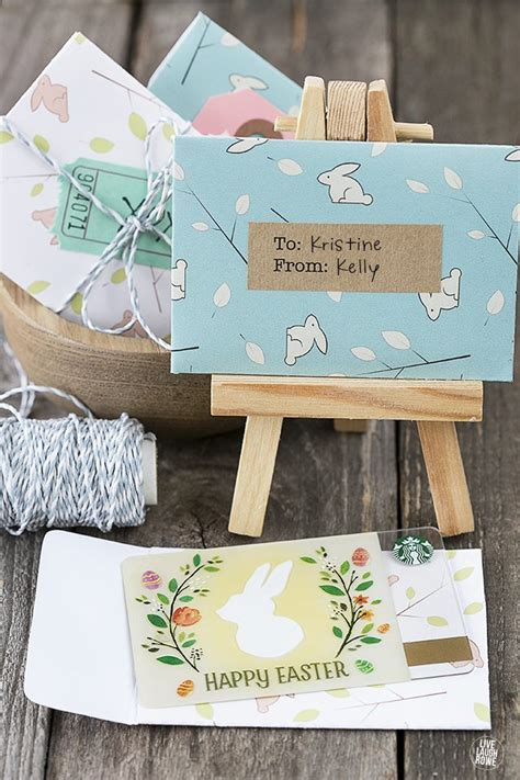 How To Fold Starbucks Gift Card Holder - printable gift card holder for easter