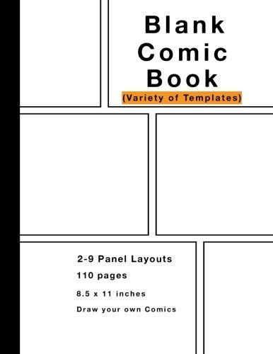 blank comic book variety of templates 2 9 panel layouts