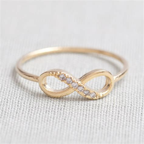 what are infinity rings us 5 us 10 size delicate infinity ring in gold on luulla