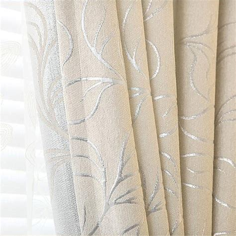 chenille vorhang new leaves chenille jacquard blinds fabric window curtain