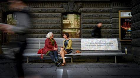 talking bench not just a park bench seniors week event prescribes