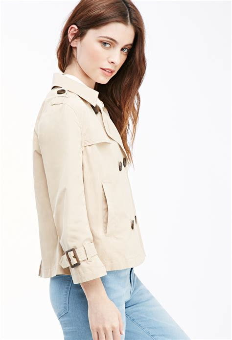 Cropped Trench Coats by Forever 21 Cropped Trench Coat You Ve Been Added To The