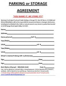 Self Storage Rental Agreement Template by Storage Rental Agreement Template Bestsellerbookdb